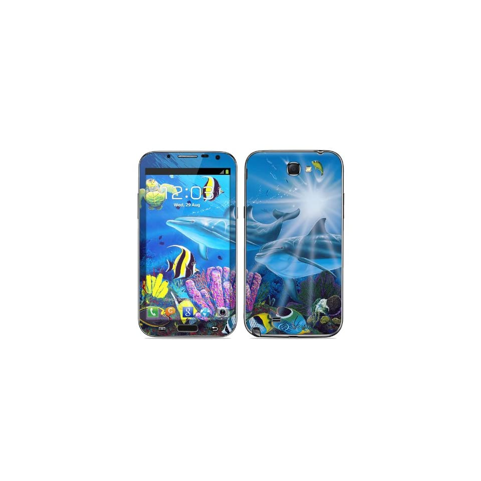 Ocean Friends Design Protective Decal Skin Sticker (High Gloss Coating) for Samsung Galaxy Note II GT N7100 Cell Phone Cell Phones & Accessories