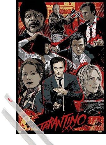 Poster + Hanger: Quentin Tarantino Tarantino Xx, Collection And 1 Set Of Transparent 1art1