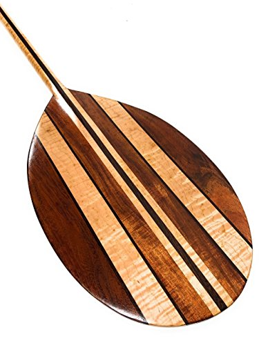 Tikimaster Curly Koa Paddle w/Maple Inlays 60