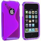 wortek® TPU Silikon Schutzhülle S-Line mit Logoausschnitt + extra Grip Apple iPhone 3G / 3GS Schwarz