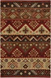 Surya Dream DST-381 Transitional Hand Tufted 100% New Zealand Wool Carmine 2'6'' x 8' Southwest Runner
