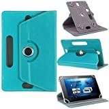 """Hello Zone Exclusive 360° Rotating 7"""" Inch Flip Case Cover Book Cover for Micromax Canvas Tab P701 -Sky Blue"""