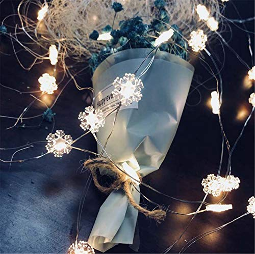 UNIQUE-F String Lights 20 Warm White White LED Fairy Lights 2M Christmas Halloween Party Home Bedroom Decoration 2 Pieces -