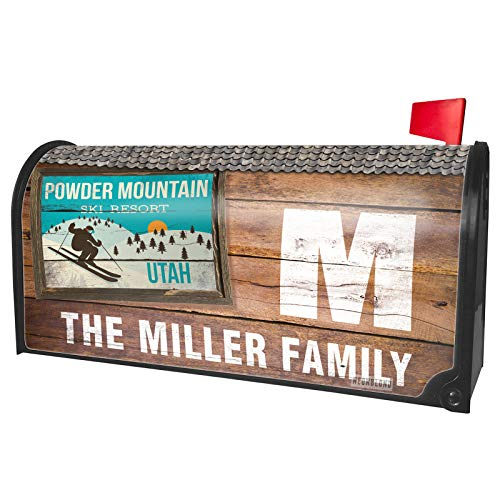 NEONBLOND Custom Mailbox Cover Powder Mountain Ski Resort - Utah Ski Resort