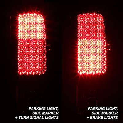 For Red Clear 00-06 Suburban Tahoe Yukon XL Liftgate Model LED Tail Lights Brake Lamps Replacement: Automotive