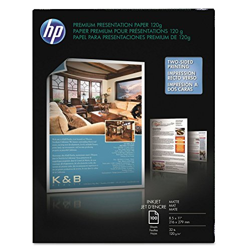 Premium Inkjet Matte Presentation Paper, 8-1/2 x 11, White, 100 Sheets/Pack, Sold as 100 Each