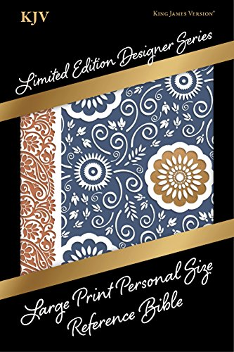 KJV Large Print Personal Size Reference Bible, Designer Series, Bohemian Paisley, LeatherTouch (Limited Edition Designer) ()