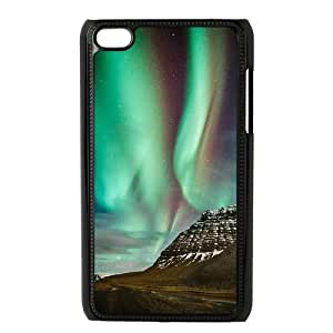 The Aurora Borealis Brand New Cover Case with Hard Shell Protection for Ipod Touch 4 Case lxa#380932