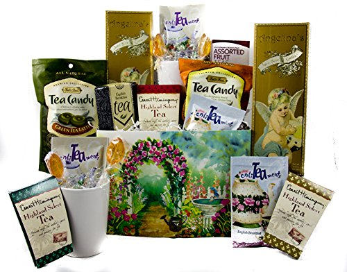 Gifts Unlimited Tea Lovers Gourmet Basket Care Package Gift Box (Gourmet Tea Baskets)