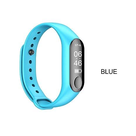 iPenty_Teléfono móvil Reloj Deportivo M3 Hombres y Mujeres Pulsera Inteligente Relojes Inteligentes Impermeable Podómetro Bluetooth Pulsera