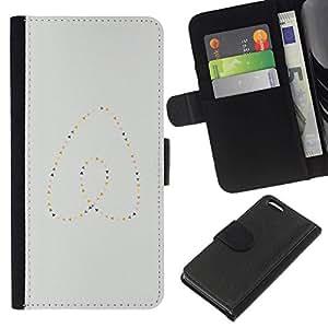 All Phone Most Case / Oferta Especial Cáscara Funda de cuero Monedero Cubierta de proteccion Caso / Wallet Case for Apple Iphone 5C // Heart Pearls Gold Blue Minimalist