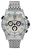 Xezo Men's Air Commando Swiss-Quartz Luxury Sport Chronograph Wrist Watches