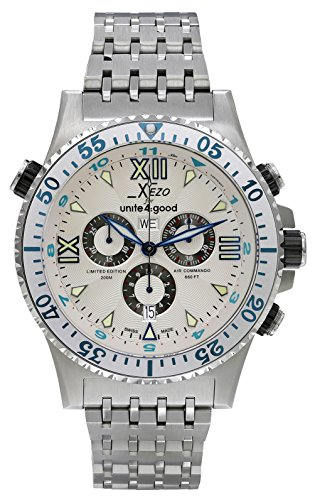Xezo Men's Air Commando Swiss-Quartz Luxury Sport Chronograph Wrist Watches by Xezo
