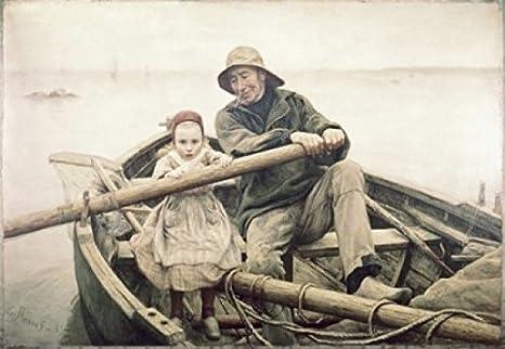 Amazon Com Posterazzi The Helping Hand 1881 Emile Renouf 1845 1894