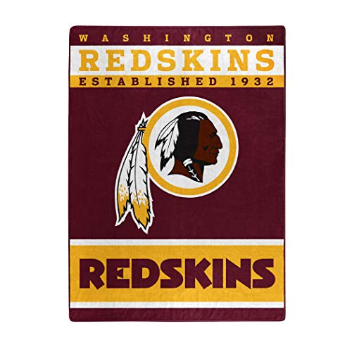 (The Northwest Company Officially Licensed NFL Washington Redskins 12th Man Plush Raschel Throw Blanket, 60