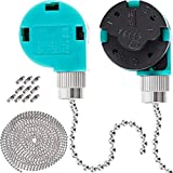 Jetec 2 Pack Ceiling Fan Switch 3 Speed ZE-268S6 and 10 Feet Beaded Pull Chain Extension with 10 Connectors for Ceiling Fans Lamps and Wall Lights
