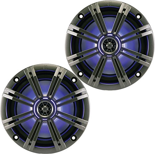 Kicker KM654LCW  6.5 Inch 2-way Marine Speaker Pair with Bui