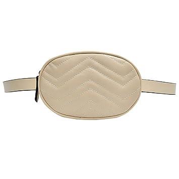 OKMPL Cinturón Paquete Cinturón Bolsa Redondo Fanny Pack ...