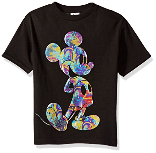 Disney Little Boys' Mickey Mouse Short Sleeve T-Shirt, Midnight Black, 5/6