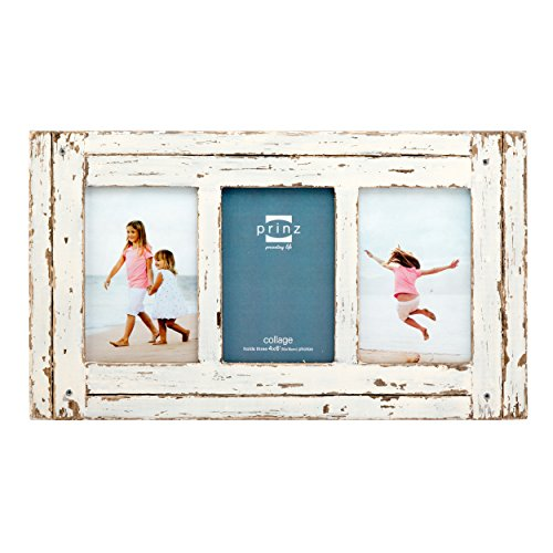 (PRINZ 3 Opening Homestead Wood Collage Frame, 4 x 6, White)
