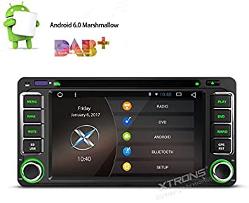XTRONS® Android 6.0 HD Digital multi-touch pantalla coche estéreo GPS CD reproductor de DVD Radio Video de 1080p para Toyota con pantalla espejo OBD2: ...