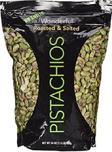 Wonderful No Shell Pistachios Roasted & Salted (24 oz.) (2PK) by Wonderful
