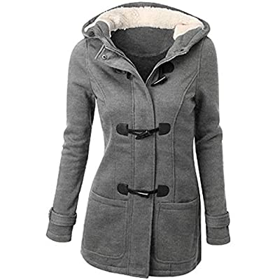 Discount Zestway Womens Warm Casual Wool Blended Classic Hooded Pea Coat Jacket free shipping