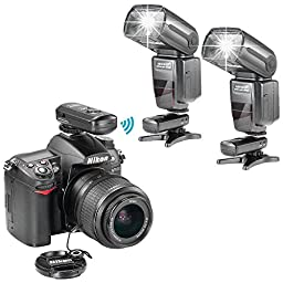 Neewer NW985N i-TTL 4-Color TFT Screen Display HSS Slave Flash Speedlite Kit for Nikon DSLR Camera,include(2)NW985N Flash+(1)2.4GHz Wireless Trigger+(2)Soft&Hard Diffuser+N1/N3 Cable+2*Lens Cap Holder