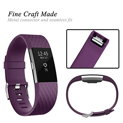 GEAK For Fitbit Charge 2 Bands, Classic Replacement Sport Accessory Strap Bands for Fitbit Charge 2 Small Large,16 Colors