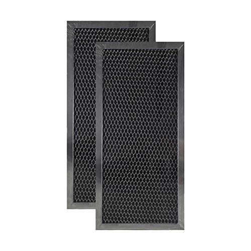 2 Pack Air Filter Factory Compatible Replacement For Whirlpool 4393791 Microwave Hood Charcoal Filter Set (Set Charcoal Filter)