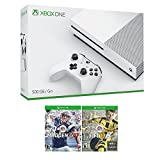 Xbox One Sports Bundle (3 Items): Microsoft Xbox One S 500GB Robot White Console, NFL 17, and FIFA 17 Games