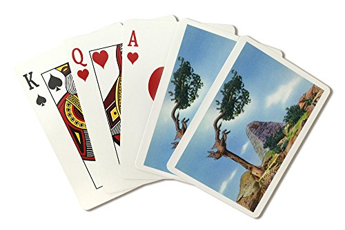 - Wyoming - Scenic View of the Ames Monument on Sherman Hill near Laramie (Playing Card Deck - 52 Card Poker Size with Jokers)