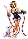 """Learning how to weld Pin up Girl Decal 6"""" Fast from the Unites States"""