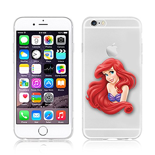 DISNEY ARIEL PRINCESSES CLEAR TPU SOFT CASE FOR IPHONE 7 PLUS AREIL 7