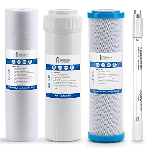 (Drinking Water Replacement Filter Set for 4 Stage UV Filtration Systems)