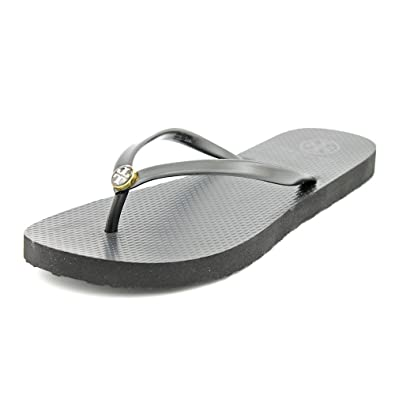 Tory Burch Women's Thin Flip Flop Black/Black ...
