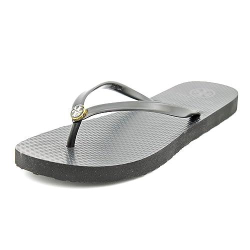 f9449e022 Tory Burch Thin Flip Flop Black Sandal (8