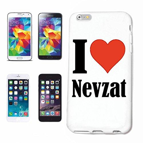 """Handyhülle iPhone 4 / 4S """"I Love Nevzat"""" Hardcase Schutzhülle Handycover Smart Cover für Apple iPhone … in Weiß … Schlank und schön, das ist unser HardCase. Das Case wird mit einem Klick auf deinem Sm"""