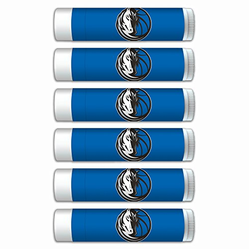 NBA Dallas Mavericks Premium Lip Balm 6-Pack Featuring SPF 15, Beeswax, Coconut Oil, Aloe Vera, Vitamin E. NBA Gifts for Men and Women, Mother's Day, Fathers Day, Easter, Stocking Stuffers