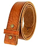 leather belt no buckle - Hagora Men 1 Color Real Leather 1.5