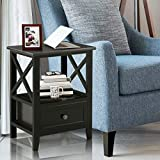 Giantex Nightstand Set of 2 End Tables W/Storage