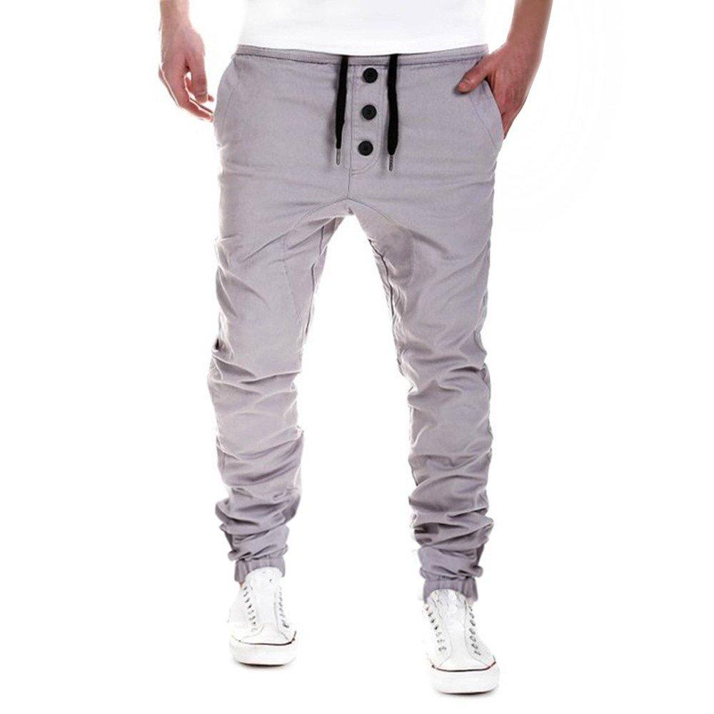 Sweatpants For Men,Clearance Sale-Farjing Mens Trousers Sweatpants Harem Pants Slacks Casual Jogger Dance Sportwear (2XL,Gray)