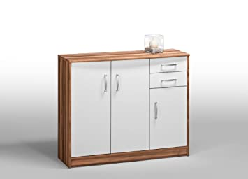 Amazon De Highboard Kommode Baltimore Nussbaum 107 Cm Phoebe 1