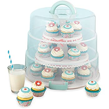 Amazon Com Snapware 3 Layer Cupcake Cookie Cake Dessert