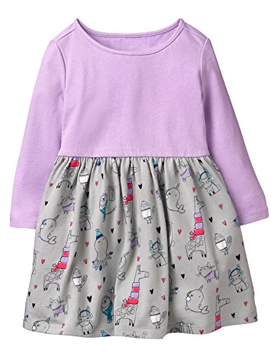 Amazon.com: Gymboree Girls Toddler Long Sleeve Winter Skater Dress: Clothing