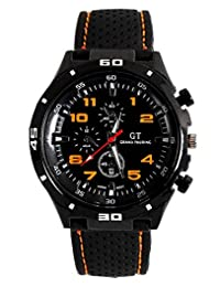 Men's Racer Military Pilot Aviator Army Silicone Sports Watch