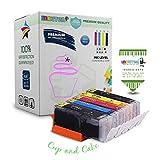 INKUTEN 5 Pack Premium Edible Ink Cartridge Replacement for PIXMA TS6020 TS5020 MG6820 MG6821 MG6822 270 271 PGI-270 CLI-271