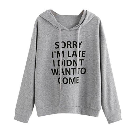 Women Hoodie Jumper Long Sleeve Letter Print Casual Sweatshirt Pullover Loose Tops