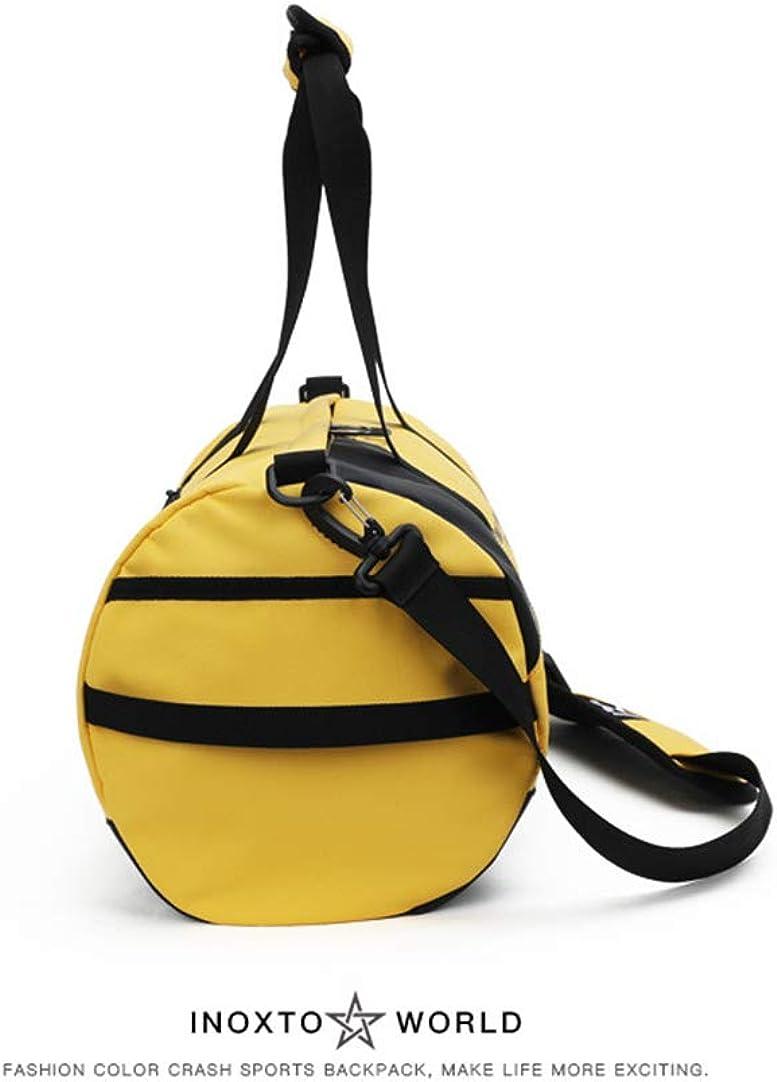 BHCsports Fitness Bags Short-Distance Travel Drum Bag Yoga Training Bag Sports Bag Mens Luggage Bag Tote.