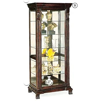 Superbe Coaster Furniture Curio Cabinets Collection 32 X 21 X 75 Inches 6 Shelf  Rectangular Curio Cabinet